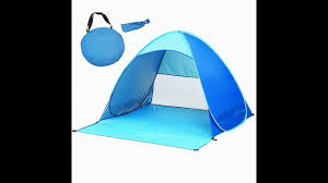 how to <b>fold</b> the <b>pop up beach tent</b> - YouTube