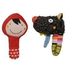 <b>Погремушка Ebulobo</b> Маракасы: Волчонок и Красная шапочка ...