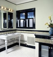 traditional style antique white bathroom: blackwhite bathroom color with vanity shower amp faucet and traditional style vanity