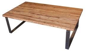 industrial style coffee table urban rustic metal