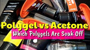 <b>POLYGEL</b> vs. ACETONE    Which <b>Polygels</b> Will <b>Soak</b> Off? 🤔 - YouTube