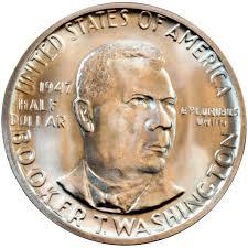 <b>Booker T</b>. Washington Silver Half Dollar Obverse - U.S. Mint ...
