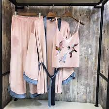<b>ZOOLIM</b> 2018 <b>Women</b> Silk 7 Pieces <b>Pajamas Sets</b> Satin Thin ...