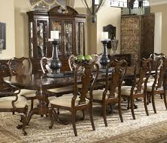 modern dining table teak classics: amazing classic hand carved double pedestal brown polished teak wood dining table with big black candle