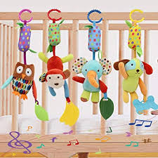Baby Toy Soft Hanging Rattle Crinkle Squeaky ... - Amazon.com