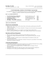 warehouse inventory manager resume sample eager world annamua