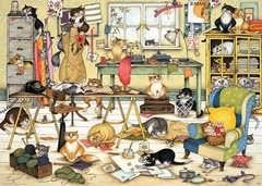 <b>Crazy</b> Cats in the Craft Room, 1000pc | Adult <b>Puzzles</b> | <b>Puzzles</b> ...