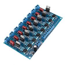 8 transistor driver board amplifier plc isolation plate output relay module