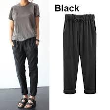 <b>Zogaa</b> 2019 <b>Loose</b> Cotton and Linen Broad Leg Harem Pants ...