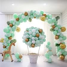 Green <b>Metallic</b> and Confetti Balloons Party Supplies Paper & Party ...