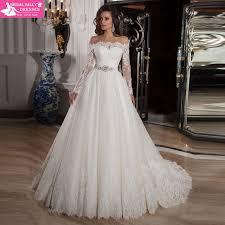 Vestido De Noiva <b>2015 Romantic Off Shoulder</b> Lace Wedding Dress ...