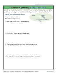 sentence diagramming  complex sentences worksheetssentence diagramming  complex sentences