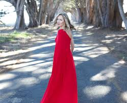 what to wear to your work holiday party memorandum 11 red one shoulder carolina jill stuart gown rent