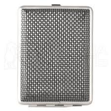 <b>Портсигар</b> Эсквайр 340022-18-2 сталь+кожа (<b>черный с рисунком</b>)