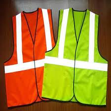 Nylon <b>Orange</b>/<b>Green Reflective</b> Safety Jacket, Use: Traffic Control ...