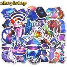 <b>50 Pcs Galaxy Stickers</b> Anime Sticker for Laptop Guitar Skateboard ...