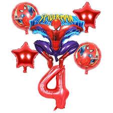 6pcs aluminum film balloon toys stereo <b>spider man</b> Happy <b>birthday</b> ...