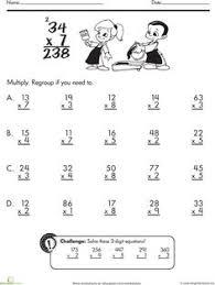 Multiplication, Multiplication worksheets and Drills on PinterestWorksheets: Two-Digit Multiplication