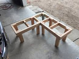 benches corner bench dining seating storage diy corner bench frame with legs attached