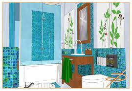 Pareti Beige E Verde : Bagno con pareti marrone e piastrelle in ceramica bianche beige