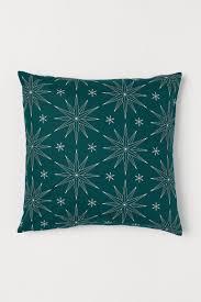 <b>Чехол на подушку с</b> рисунком - Зеленый/Звезды - HOME | H&M RU
