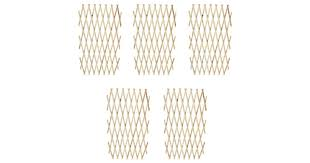 <b>Trellis Fence 5 pcs</b> Solid Wood 180x90 cm - Matt Blatt