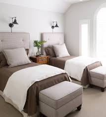 Bedroom For Two Twin Beds Guest Bedroom Design Ideas Two Twin Beds Neutral Home Daccor