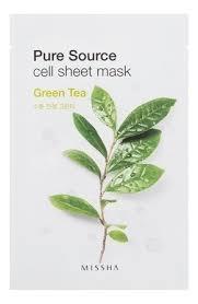 <b>Маска для лица листовая</b> с зеленым чаем Pure Source Cell Sheet ...