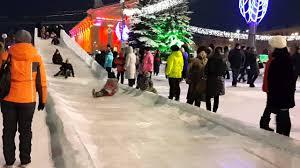 Опасная горка Снежный ледяной городок 2016 Нижний Тагил От ...