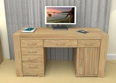 the atlas oak twin pedestal home office computer desk is a perfect addition to any home atlas chunky oak hidden home office