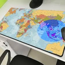 <b>World Map</b> Large Game Console Custom Mousemat <b>Anti</b>-<b>skid</b> Lock ...