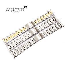 <b>CARLYWET</b> 19 <b>20mm</b> 316L Stainless Steel Two Tone Gold <b>Silver</b> ...