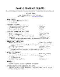 academic resume templates academic resume for graduate school academic resume templates academic resume for graduate school