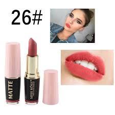 miss rose korean matte lipstick waterproof makeup batom mate nude lip stick velvet red rouge a levre mat tint pencil