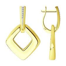 <b>Серьги</b> из жёлтого (лимонного) <b>золота</b> ᐉ купить в каталоге ...