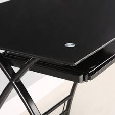walker edison l shaped black glass computer desk 2 black glass office desk 1