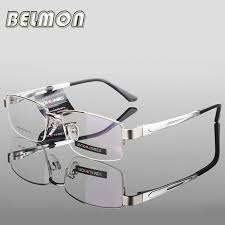 AL-MG <b>Spectacle Frame Eyeglasses Men</b> Computer Optical Eye ...