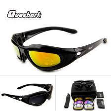 Queshark Professional 4 Lens/<b>Set</b> UV Or <b>Polarized Cycling Glasses</b> ...