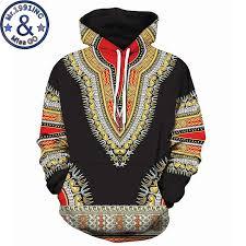 Black <b>3D Hoodies Sweatshirts Men Women</b> African Dashiki Print ...