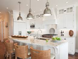 beach style kitchen by richard bubnowski design llc beach house kitchen nickel oversized pendant