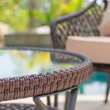 <b>3 PCS</b> Rattan Wicker Patio Furniture Set <b>Coffee Table</b> Rocking ...