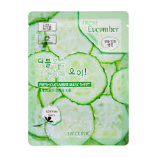 <b>Тканевая маска</b> 3W Clinic Fresh Cucumber Mask Sheet – купить в ...