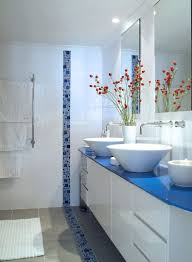 blue bathroom tile ideas: bathroom ideas blue and white nola designs