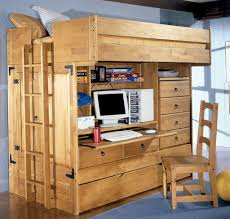 chic home office decor loft bed with desk and storage bed for office