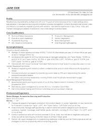 professional senior production manager templates to showcase your resume templates senior production manager