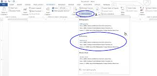 creating a reference list and in text citations in microsoft word this creates a reference list from all your citations