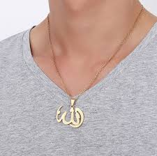 Fashion <b>Mens Necklaces Pendants Stainless</b> Steel Gold color Allah ...