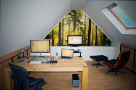 home office featuring warm neutral colors and soft lighting view in gallery small beautiful small home office