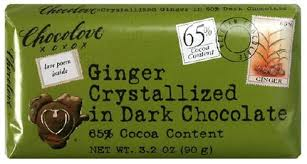 Chocolove Chocolate Bar, Ginger Crystallized in ... - Amazon.com