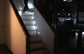 here is a pretty cool way to get up and down the stairs with led lighting video automatic led stair lighting